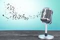 Retro microphone Royalty Free Stock Photo