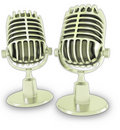 Retro microphones 3d Stock Photo
