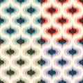 Retro Mid century 70s geometric wallpaper pattern. Funky colorful texture seamless background.