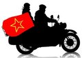 Retro military motorcycle Royalty Free Stock Image