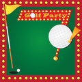 Retro Miniature Golf Party Invitation Royalty Free Stock Photography