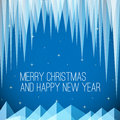 Retro minimalistic Christmas card Royalty Free Stock Photo