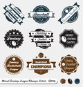 Retro Mixed Fantasy League Labels and Stickers Royalty Free Stock Photo