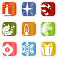 Retro Mod Christmas Icons Royalty Free Stock Photo