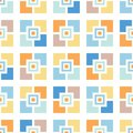 Retro Mosaics Tiles Vector Seamless Pattern. Whimsical Summer Pool Geo. Abstract Mid-Century Background