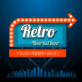 Retro motel sign with copyspace eps transparency effects Royalty Free Stock Image