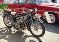 Retro motorcycle BMW R32 at the exhibition. Royalty Free Stock Photo