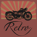 Retro motorcycle label abstract illustration Royalty Free Stock Photos