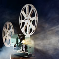 Retro movie projector Royalty Free Stock Photo
