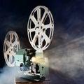 Retro movie projector Royalty Free Stock Photo