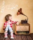 Retro music concept Royalty Free Stock Photo