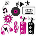 Retro music elements Royalty Free Stock Image