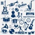 Retro music label Royalty Free Stock Photo