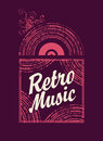 Retro music an old vinyl record Royalty Free Stock Photo