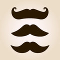 Retro mustache illustration set Stock Photography
