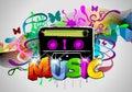 Retro muziek Royalty-vrije Stock Afbeelding
