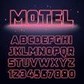 Retro Neon Light Font