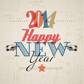 Retro new year card vector Stock Photos