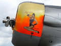 Retro nose art of AT6 Texan Stock Photos