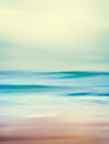 Retro ocean waves an abstract seascape with blurred panning motion and long exposure image displays a vintage look with cross Stock Photography