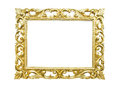 Retro old gold frame Royalty Free Stock Photo