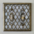 Retro old style Lightswitch Royalty Free Stock Photo