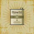 Retro Olive Oil Can Royalty Free Stock Photography