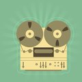 Retro open-reel tape recorder Royalty Free Stock Photo