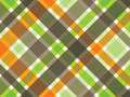 Retro orange green brown plaid Stock Photos