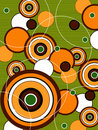 Retro orange green pop circles Royalty Free Stock Images