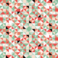 Retro origami colorful seamless pattern Royalty Free Stock Photo