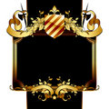 Retro ornate frame Royalty Free Stock Image