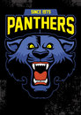 Retro panther mascot design vector of Stock Images