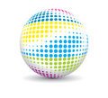 Retro party ball Royalty Free Stock Images