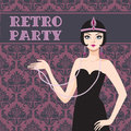 Retro party invitation Royalty Free Stock Image