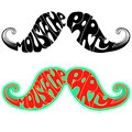 Retro party Moustaches.Vector illustration isolate Royalty Free Stock Photo