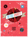 Retro party poster design vector illustration Stock Photography