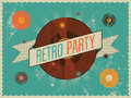 Retro party poster design vector illustration grunge Stock Images