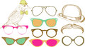 Retro Party set: sunglasses Stock Images