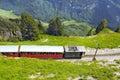 Retro passenger train. Royalty Free Stock Photo