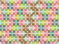 Retro pastel flower pattern Stock Images