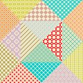 Retro patchwork. 16 Vector seamless patterns