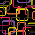 Retro pattern black background with squares - rounded Royalty Free Stock Photo