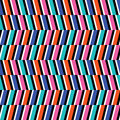 Retro pattern colorful wavy optical illusion background Stock Photos