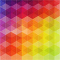 Retro pattern of geometric shapes colorful mosaic banner hipster background triangle background Stock Photography