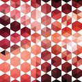 Retro pattern of geometric shapes hexagon colorful mosaic banner hipster background with place for your text Royalty Free Stock Photo