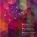 Retro pattern of geometric shapes. Triangle colorful mosaic back Royalty Free Stock Photo