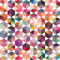 Retro pattern of geometric shapes. Triangle colorful mosaic back Royalty Free Stock Photo