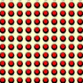 Retro pattern red and black on cream seamless Stock Photo