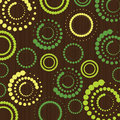 Retro Pattern - Spotted Rings Royalty Free Stock Photo